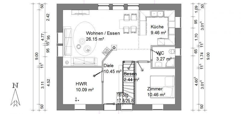 grundrisse einfamilienhaus Grundriss Einfamilienhaus Glindow - offene kuche wohnzimmer grundriss