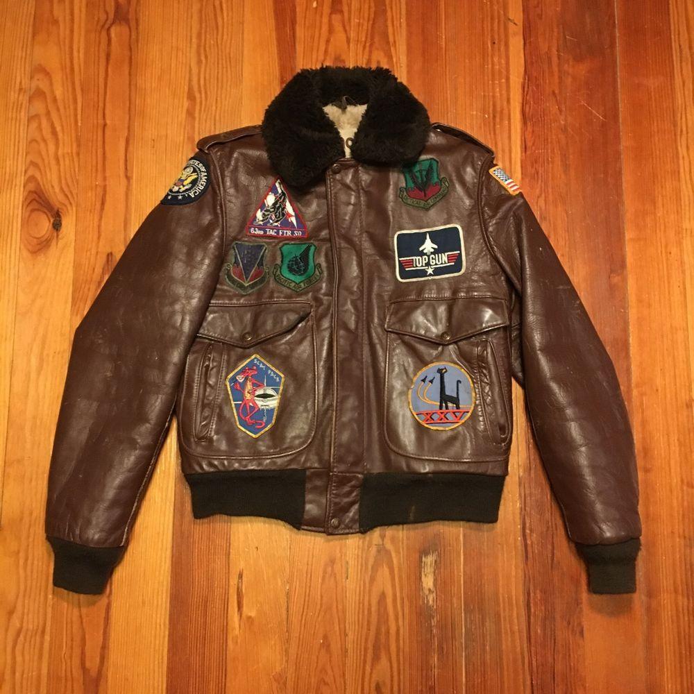 Vintage Schott Nyc Sportsware Brown Leather Flight Jacket I S 674 M S Mens36 38 Ebay Leather Bomber Jacket Leather Flight Jacket Jackets [ 1000 x 1000 Pixel ]