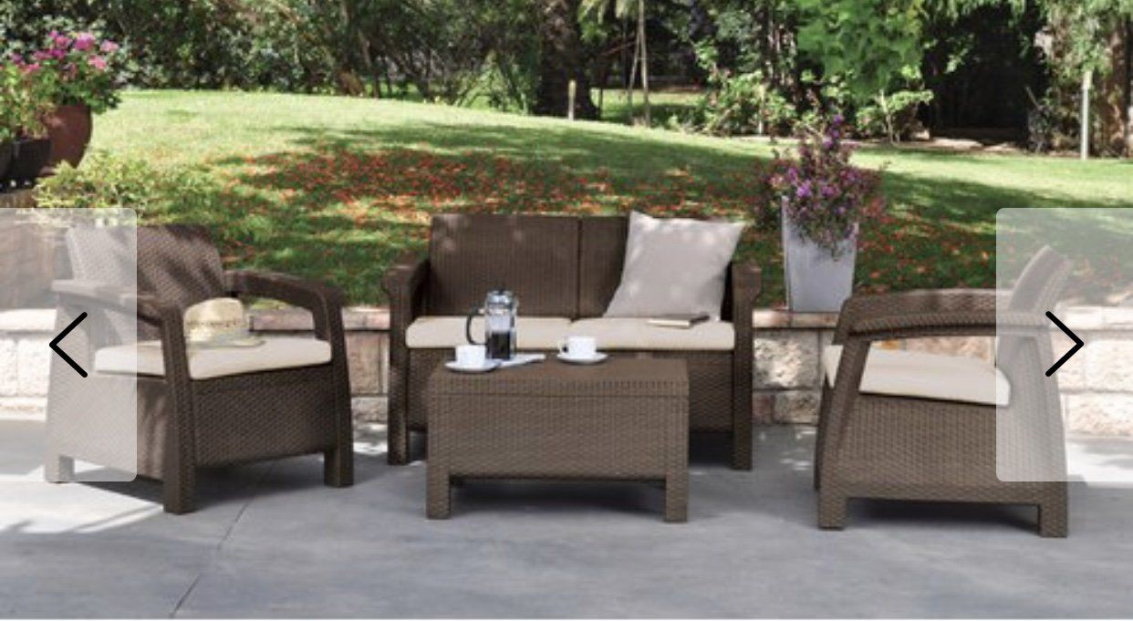 All Weather Outdoor Patio Chair With Cushion Patio Seating Sets