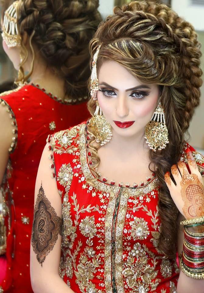 Makeup By Kashee S Beauty Parlour Pakistani Bridal Hairstyles Indian Bridal Hairstyles Beautiful Wedding Makeup