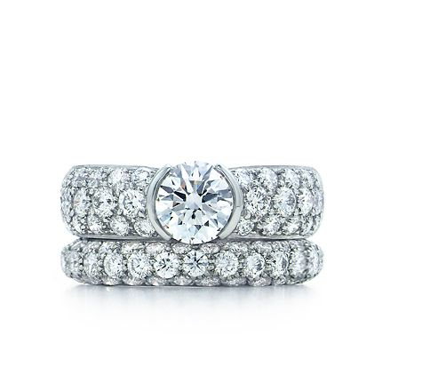 91d33c44b Tiffany & Co. | Engagement Rings | Etoile With Pavé-set Band | United  States LOVE LOVE LOVE