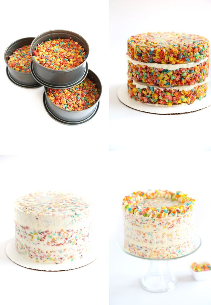 Fruity Pebbles Crispy Treat Cake