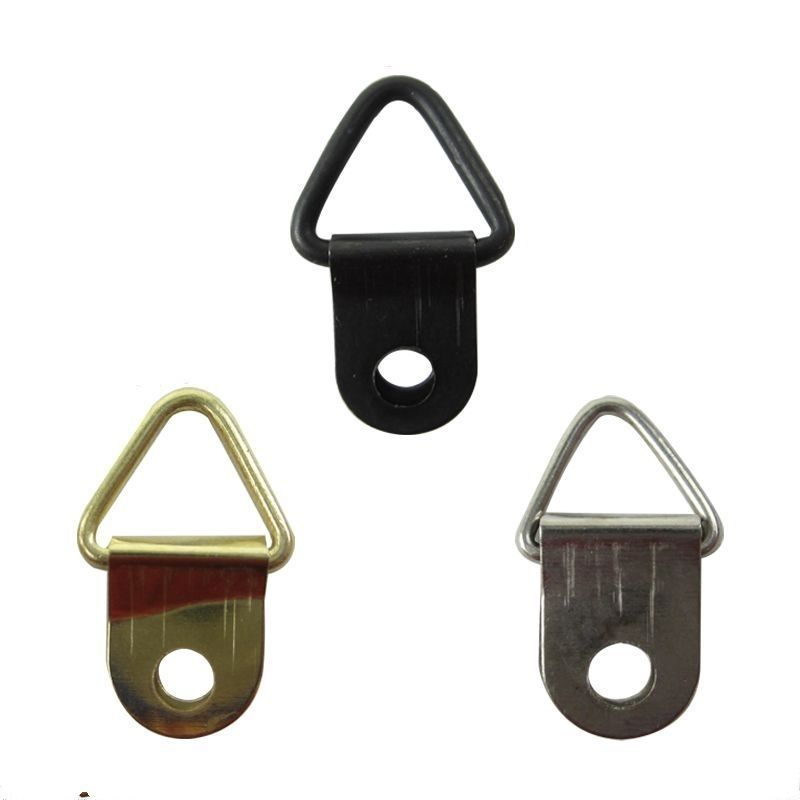50 100pcs Triangle D Ring Hanging Picture Frame Hooks Mirror Hangers