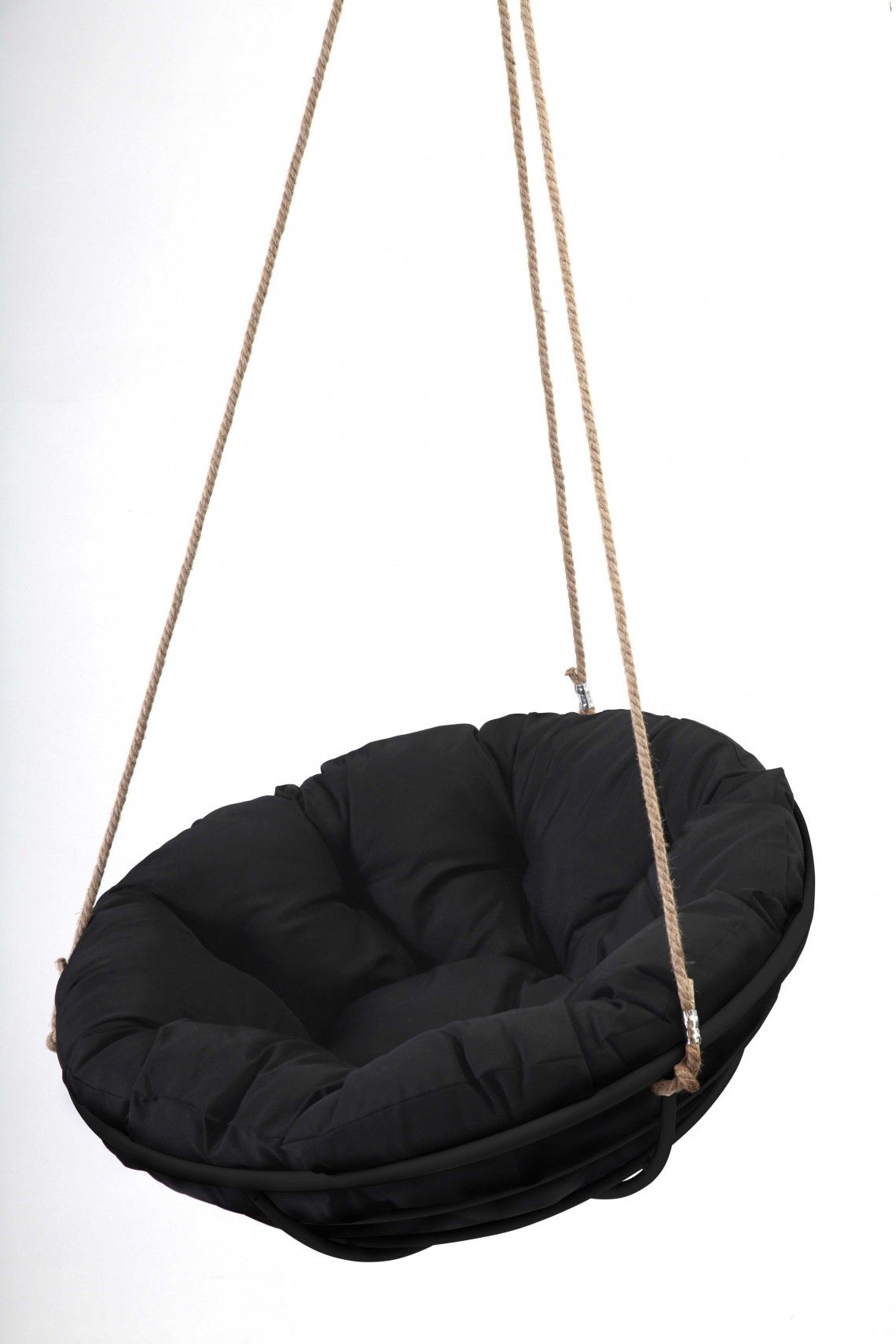 Black Framed Hanging Papasan With Rope Papsan Chair Outdoor