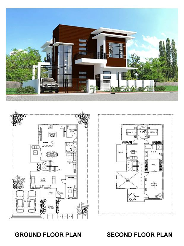 Pre Designed Models For House Construction From Contractors In The Philippines Concepthomebuild Modern House Floor Plans House Floor Plans Modern House Plans