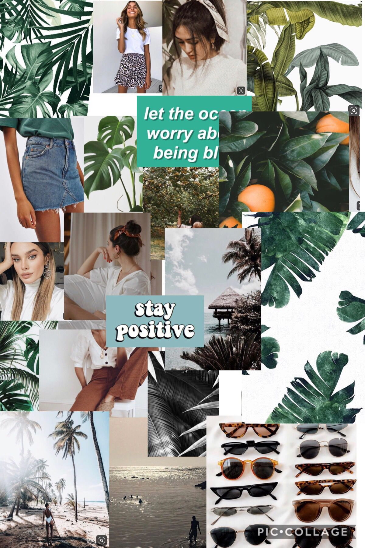 Collage Green Tumblr Cute Summer Wall Collage Photo Wall Collage Picture Collage Wall