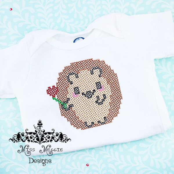 Cross Stitch Hedgehog 4x4 Ith Embroidery Design From Miss Meggie