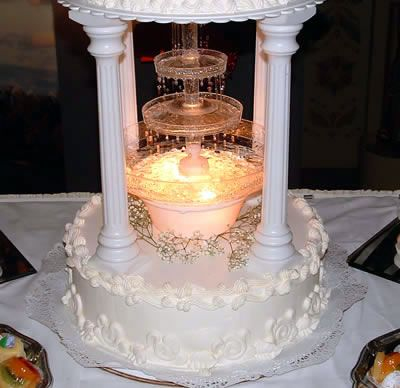 Wedding Cakes With Lights And Fountains