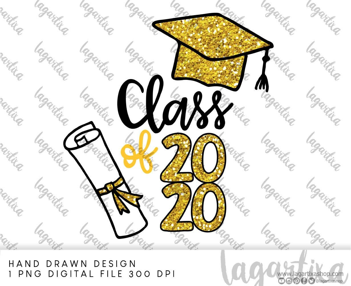 Class Of 2020 Graduation Png Clipart Digital File For Etsy Black Decorations Graduation Design How To Draw Hands