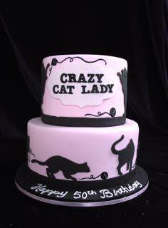 Prime Cat Cake Crazy Cat Lady Cake 50Th Birthday Cake 50Th Birthday Funny Birthday Cards Online Elaedamsfinfo