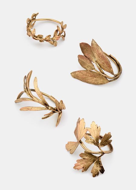 Cast Herb Napkin Rings Set of 4.  Handmade in USA. wish they were braclets