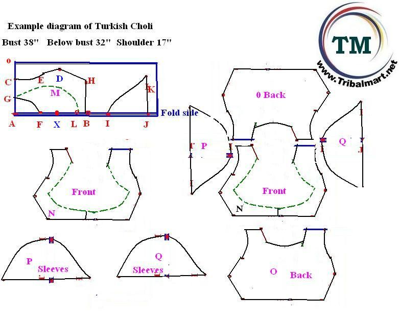 How to make Turkish vest pattern ? | belly-dance-costume-patterns ...