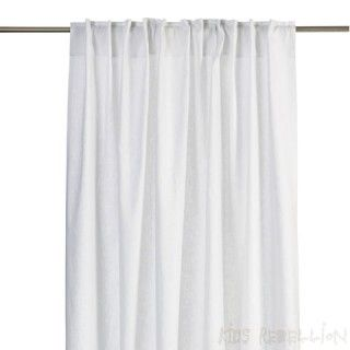 Witte linnen gordijnen voor een rustig en zachte sfeer ...