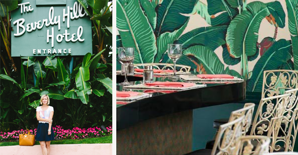 Inspired By The Beverly Hills Hotel Palm Leaf Wallpaper Style
