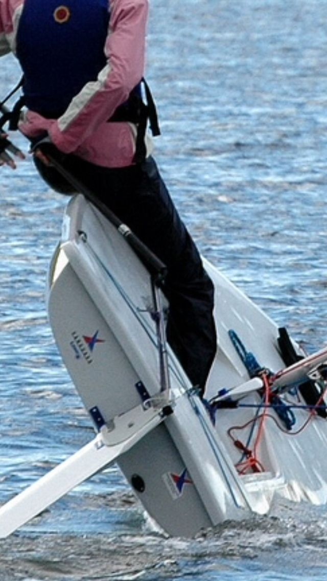 Sailing A Laser This Maneuver Shown Is Called Heeling