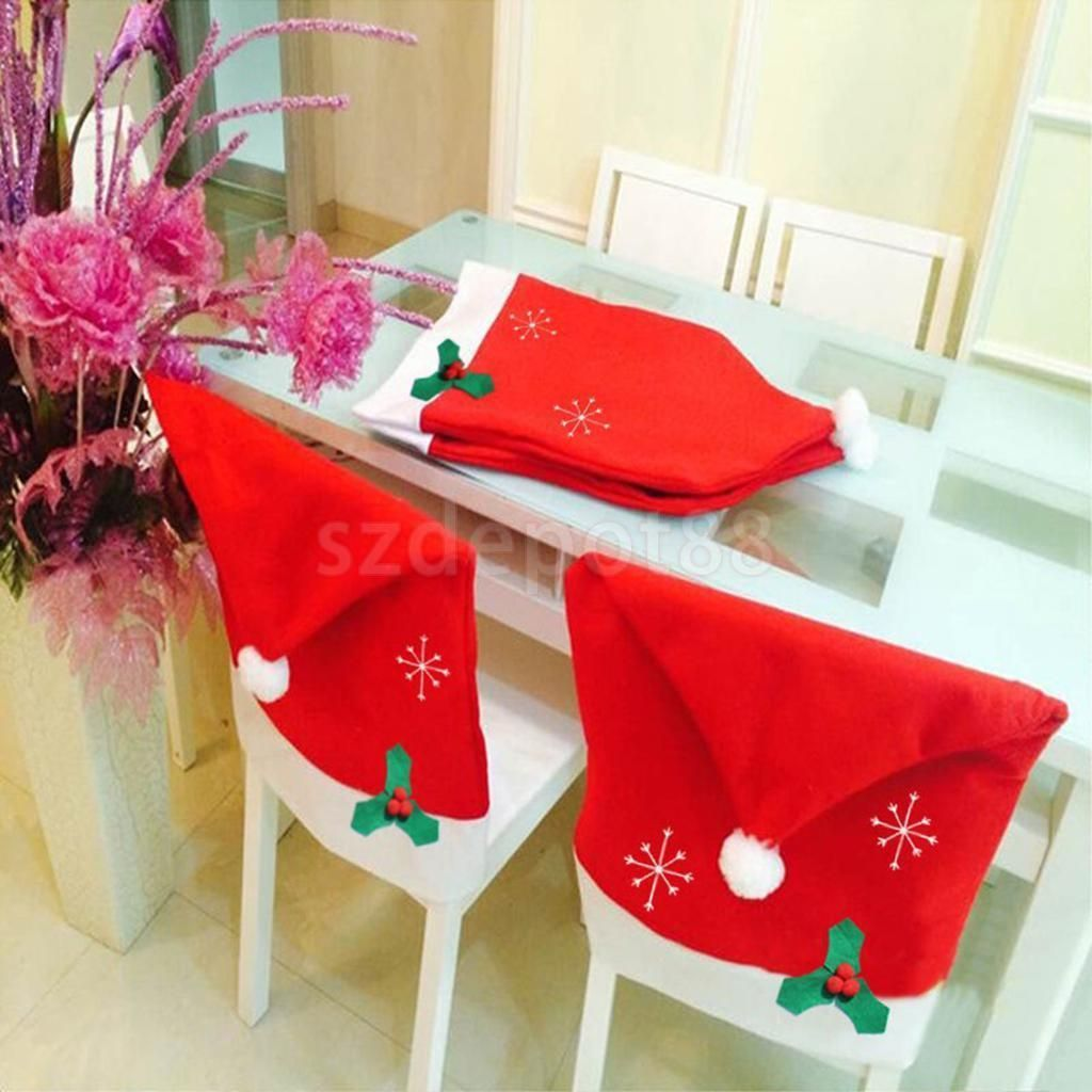 christmas chair covers ebay plastic lounge 4 16 snowflake party home restaurant decorations garden