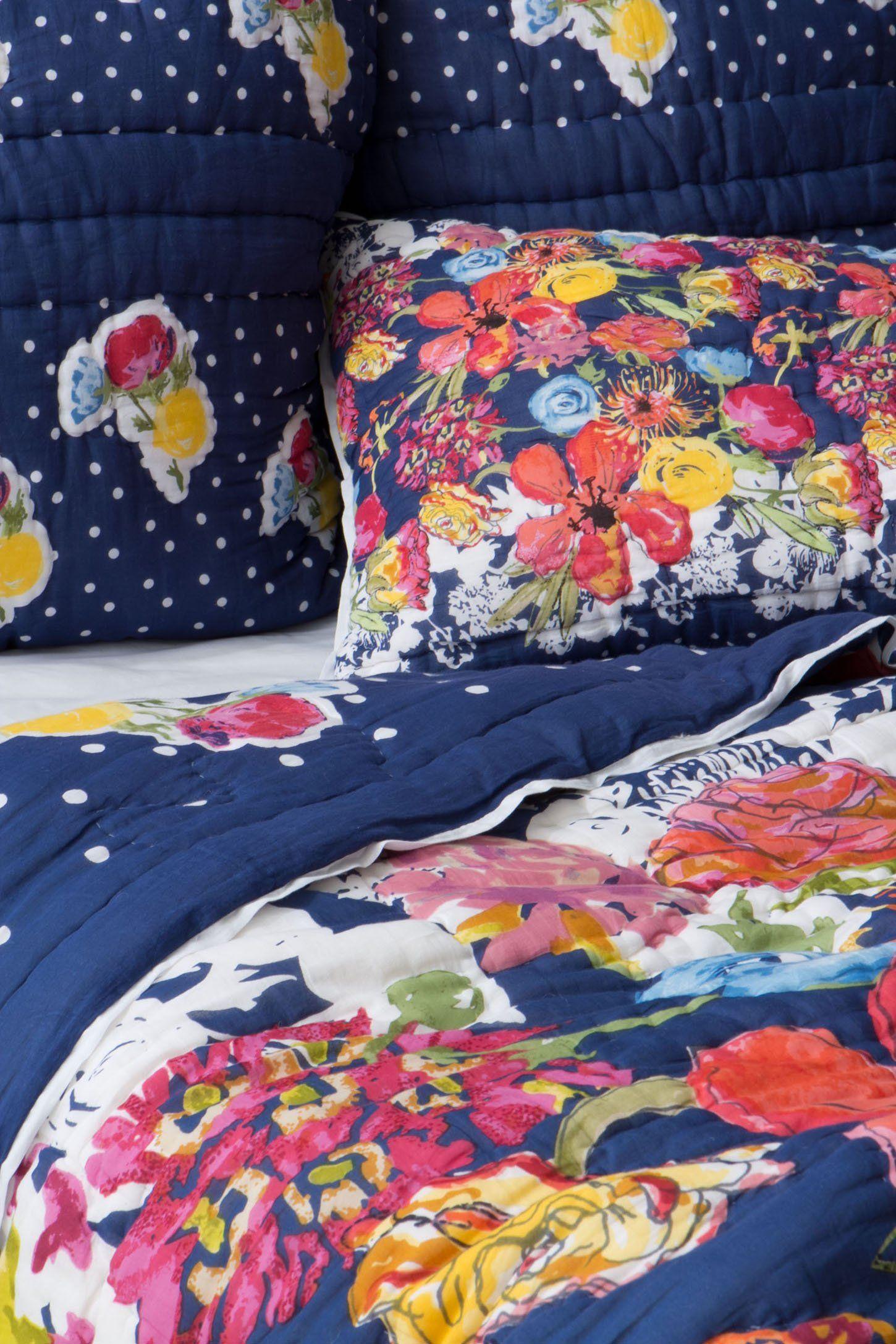 Jardin quilt anthropologie bedding colorful bedding