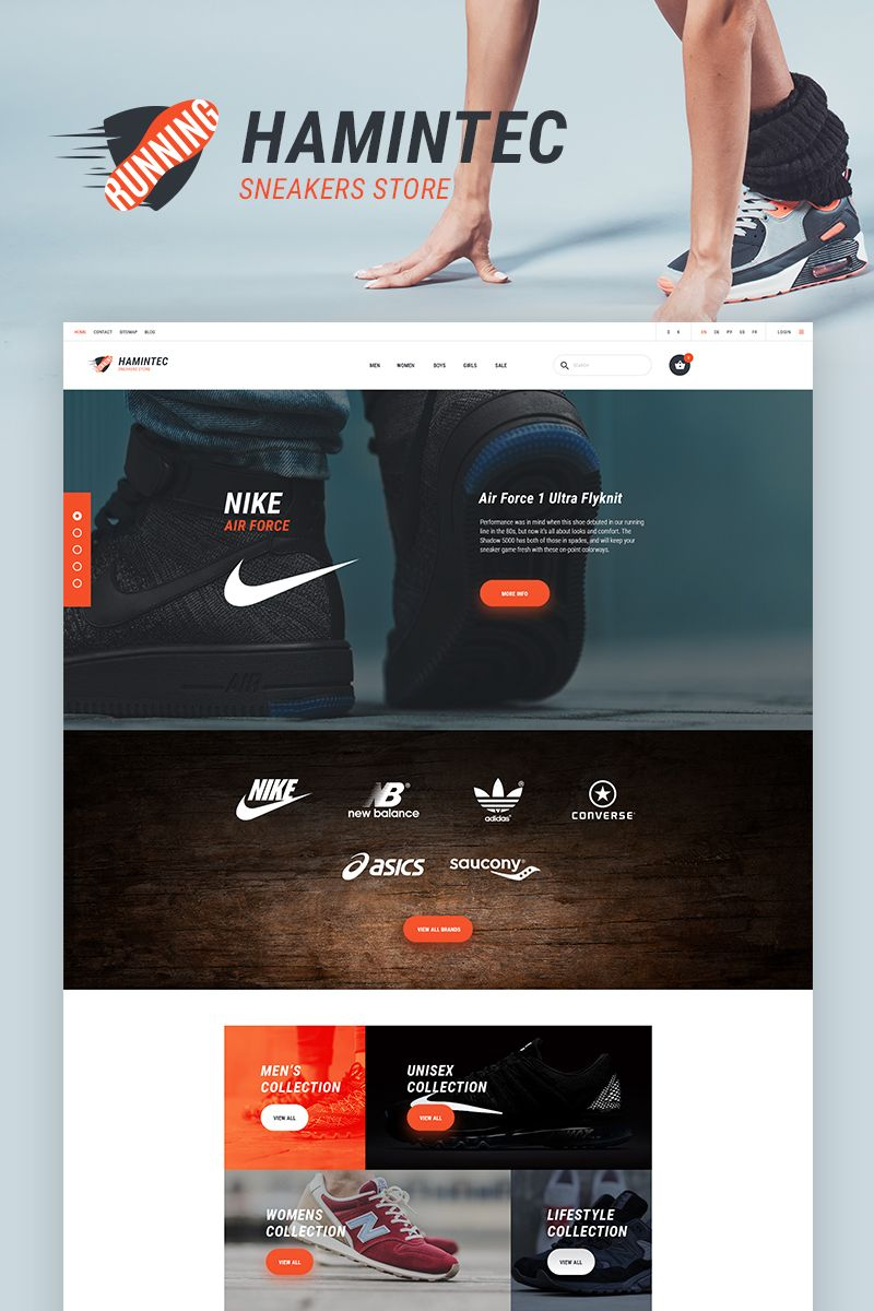 Hamintec - Sneakers Store PrestaShop Theme Big Screenshot | New ...