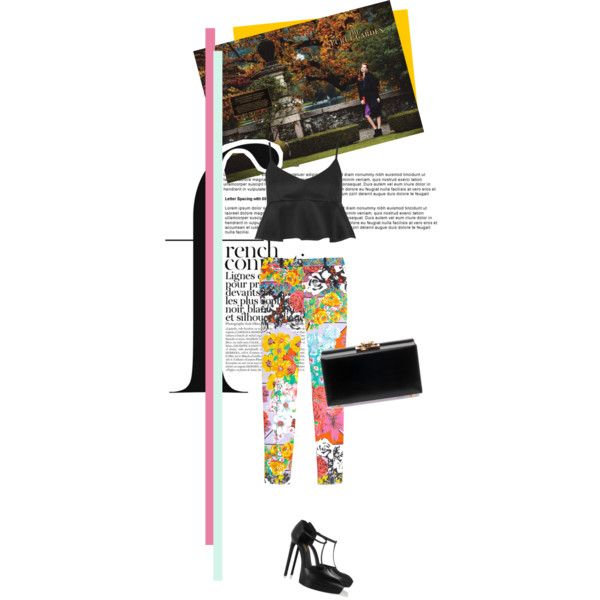 colourful garden on Polyvore