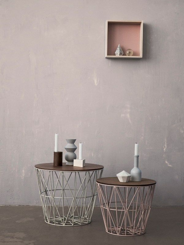 Low Round Iron Coffee Table Wire Basket By Ferm Living Interiors Ferm Living