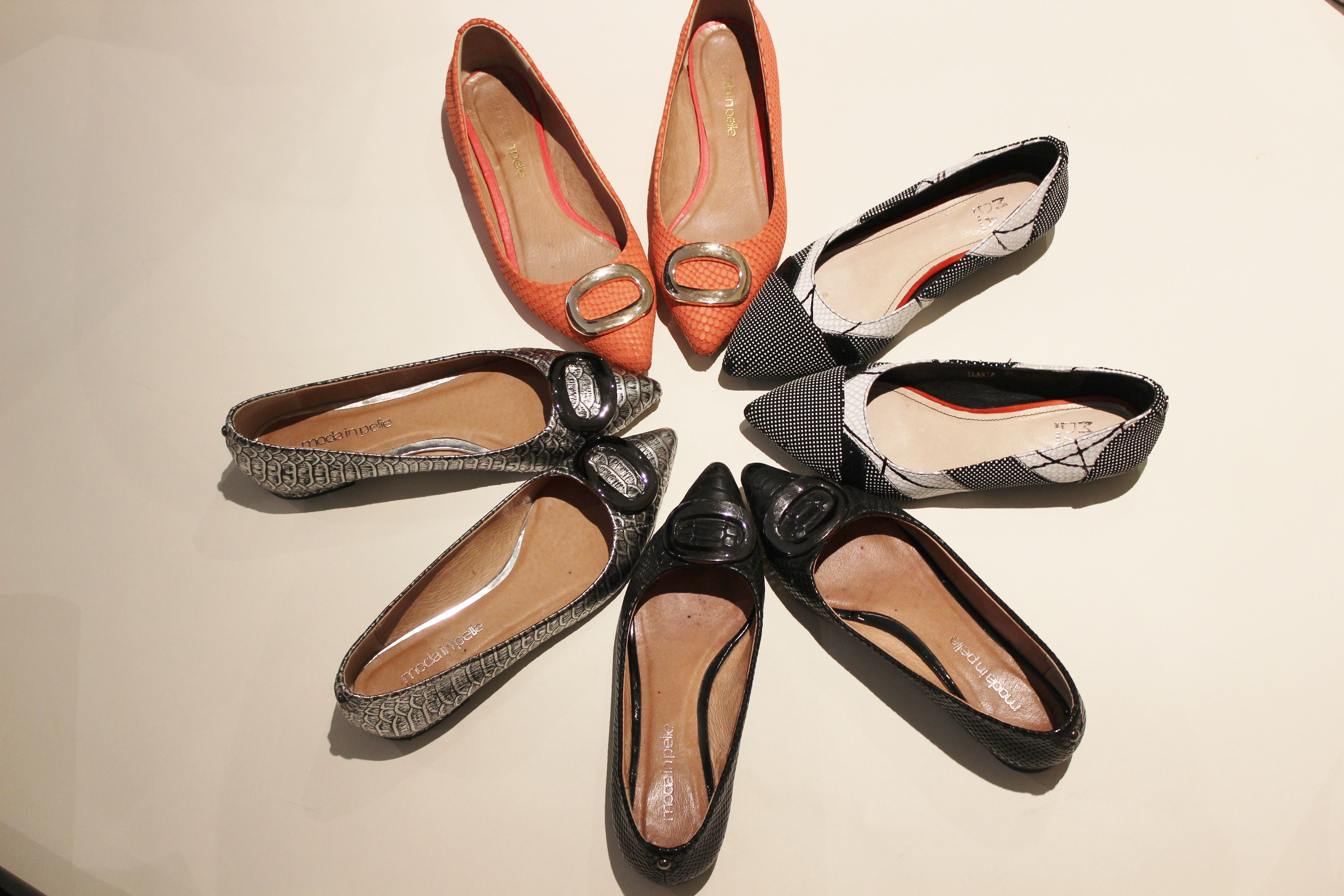 my flats - worn nearly every day - not all at once - only have 2 feet :-)