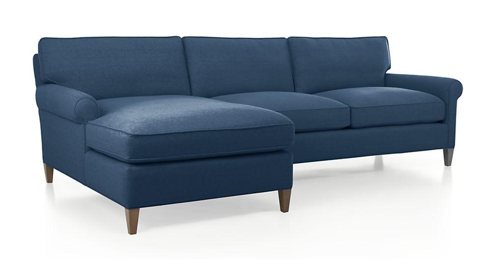 "Montclair 2-Piece Sectional Sofa. $2,799.00. 109""W x 62""D x 35""W. Nautical blue. Family room"