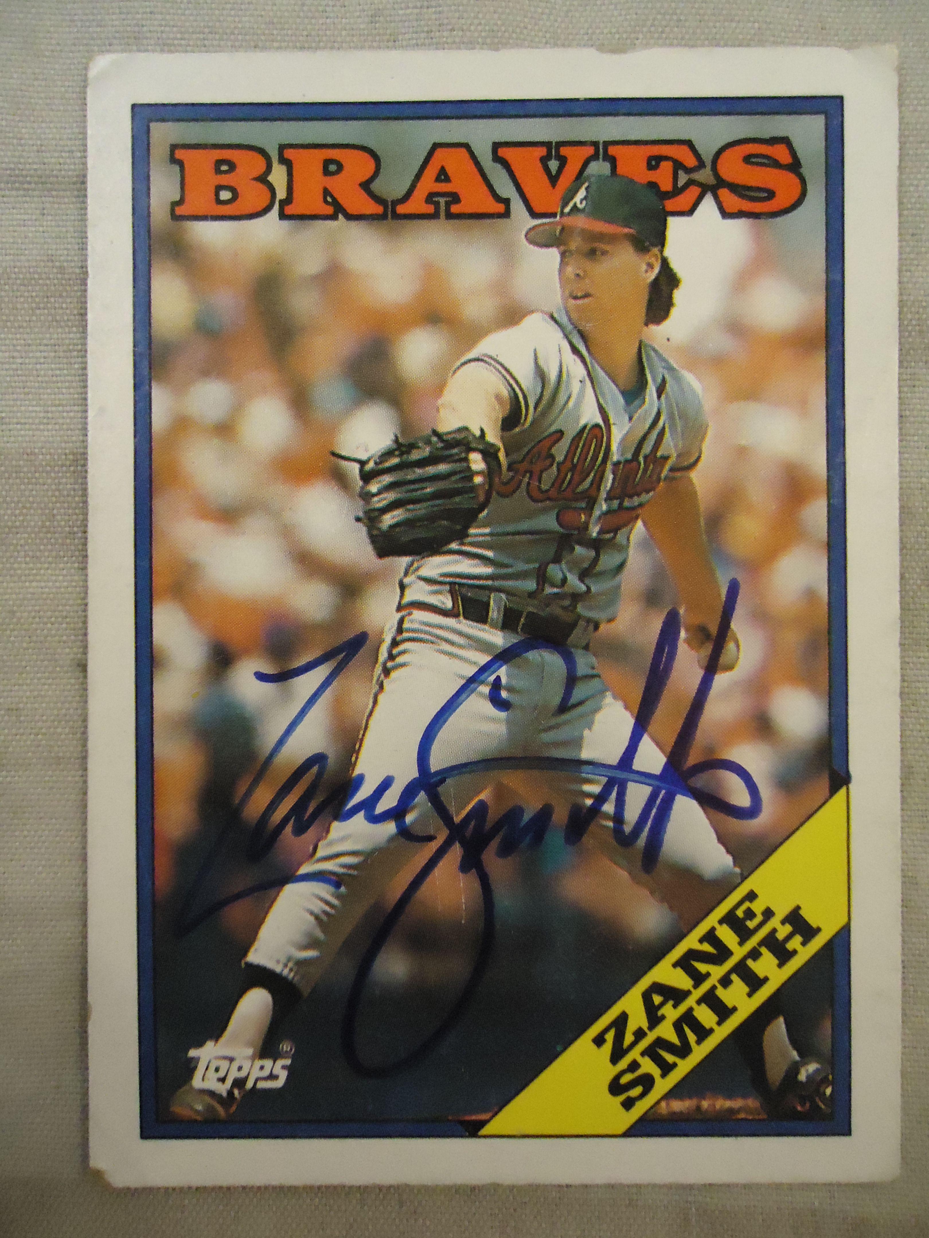 1988 Topps 297 Zane Smith Ttm Braves Baseball Cards I Card