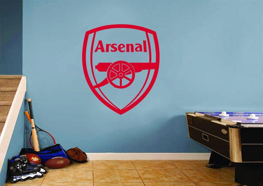 Arsenal Football Club Logo Wall Art Sticker Sports Wall Arsenal Football Arsenal
