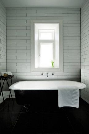Long Thin Subway Tiles Pure Simplicity Makes A Bold Statement In