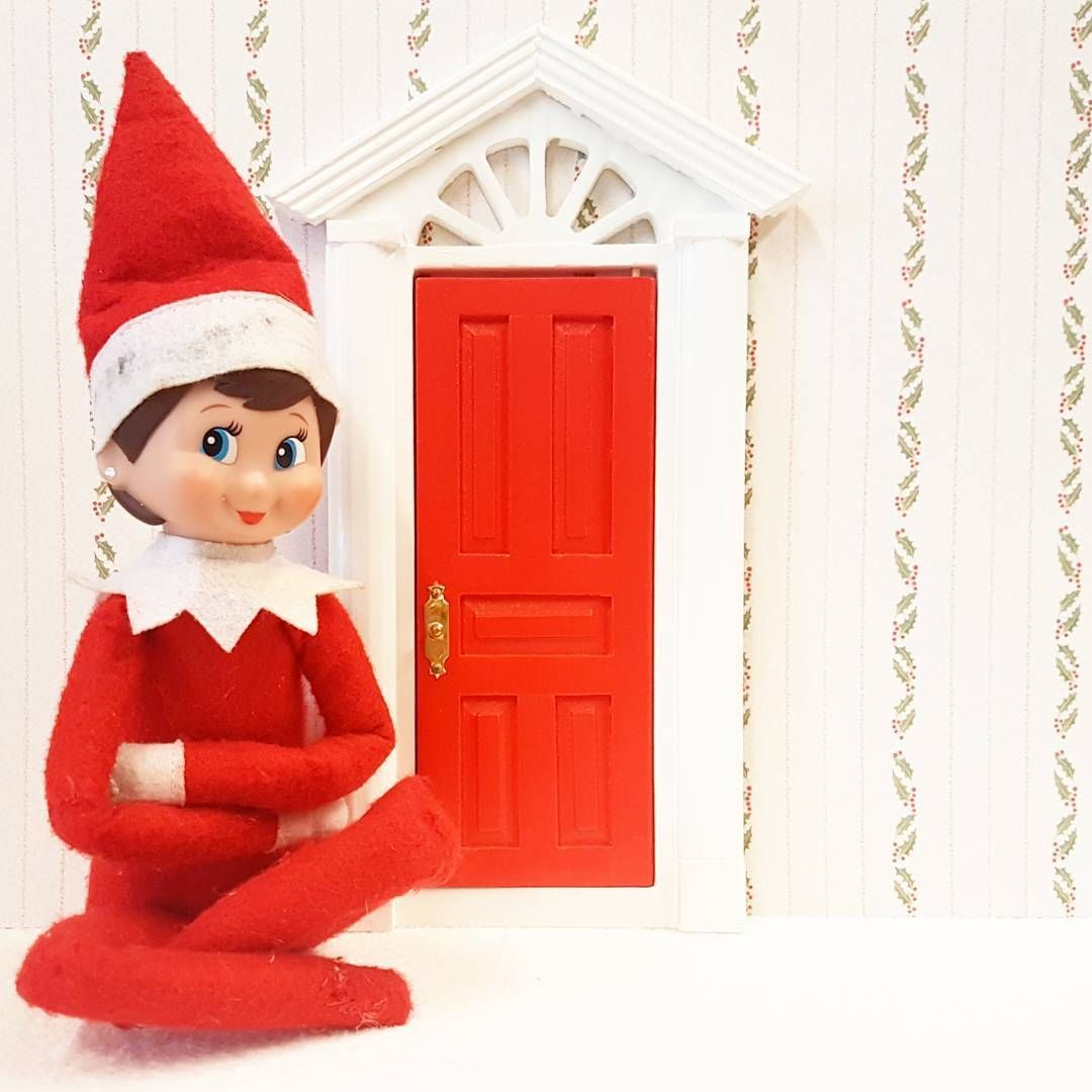 Dolls House Miniature 12th scale DIY695 Painted Red and White Fairy Door