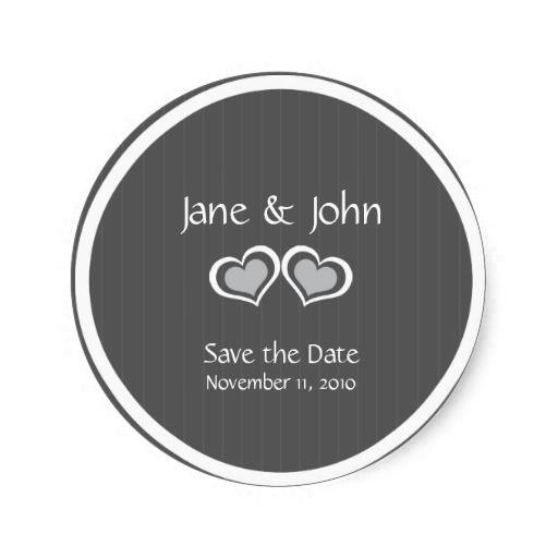 Elegant stylish save the date wedding classic round sticker