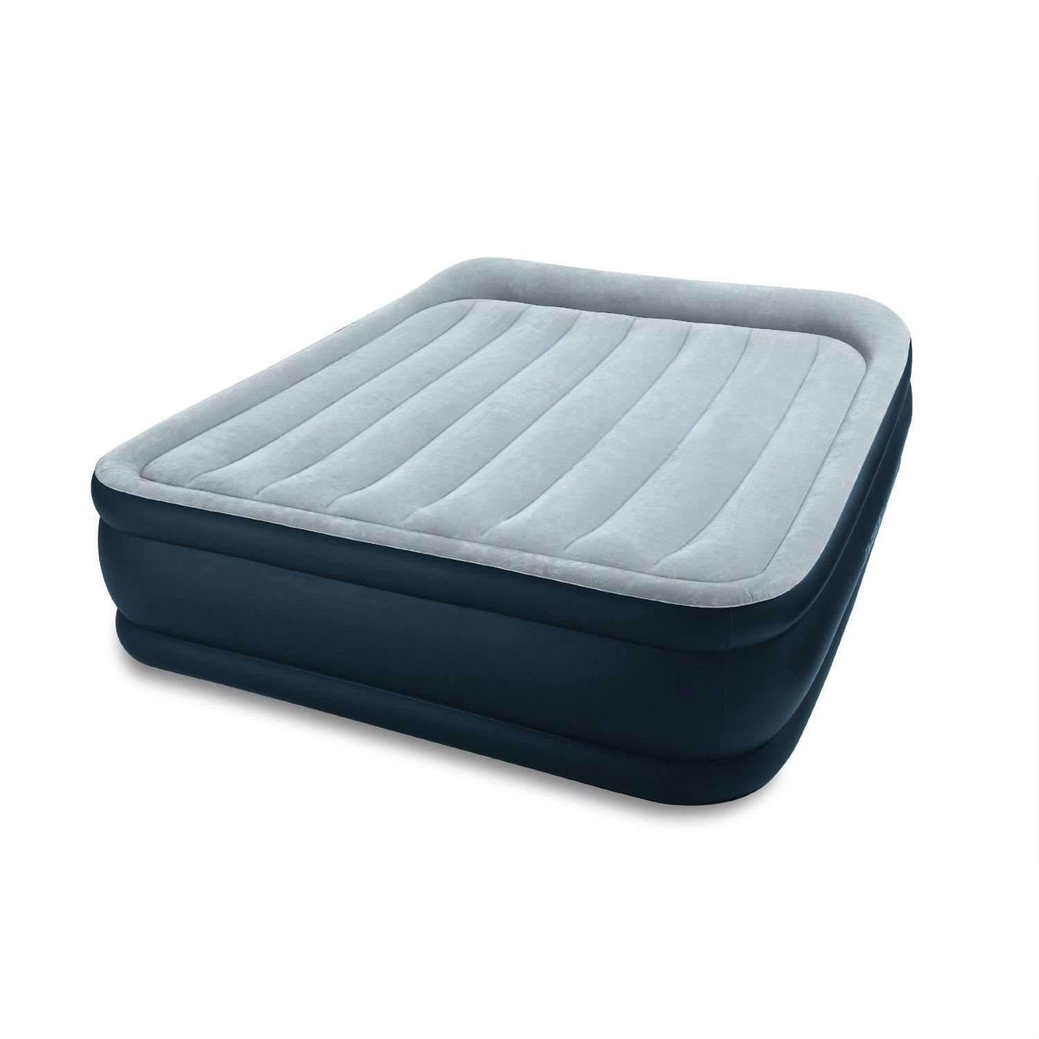 Queen Size Raised Airbed Air Mattress With Built In Pillows And