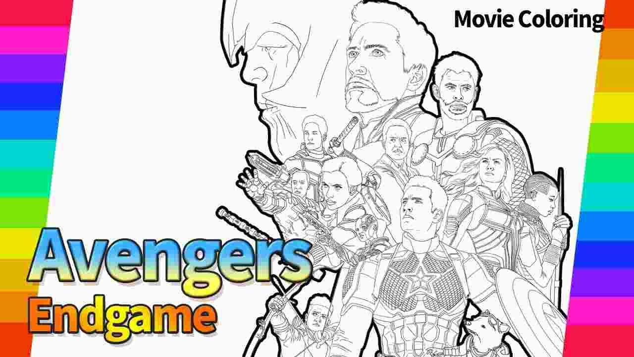Printable Avengers Endgame Poster Coloring Pages - Free Printable Coloring Pages for Kids and Adults