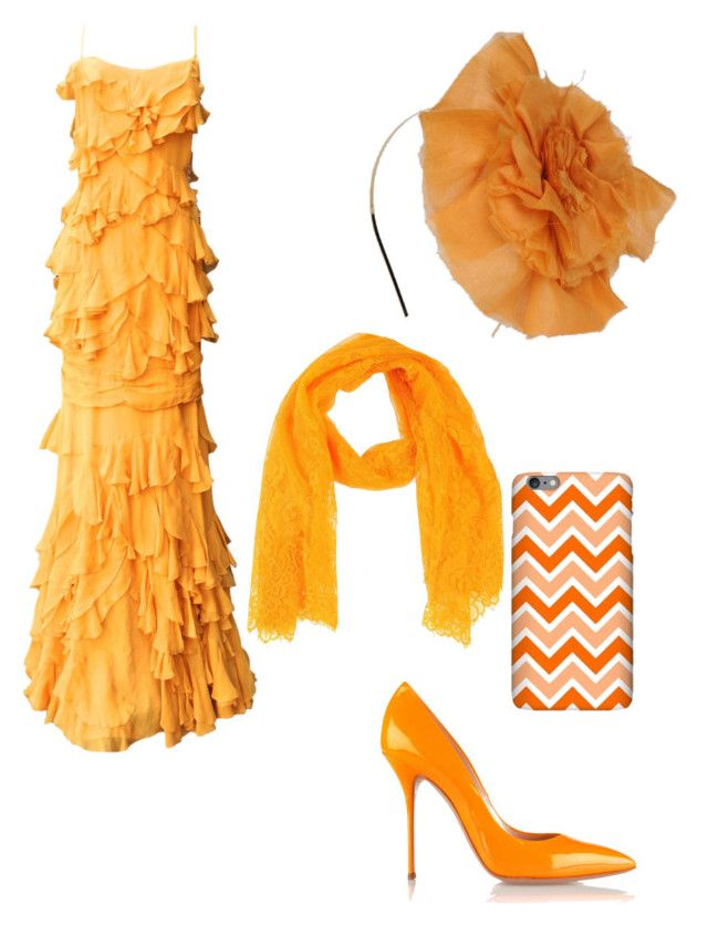"""""""Orange ruffles"""" by miacoolcat9 ❤ liked on Polyvore"""