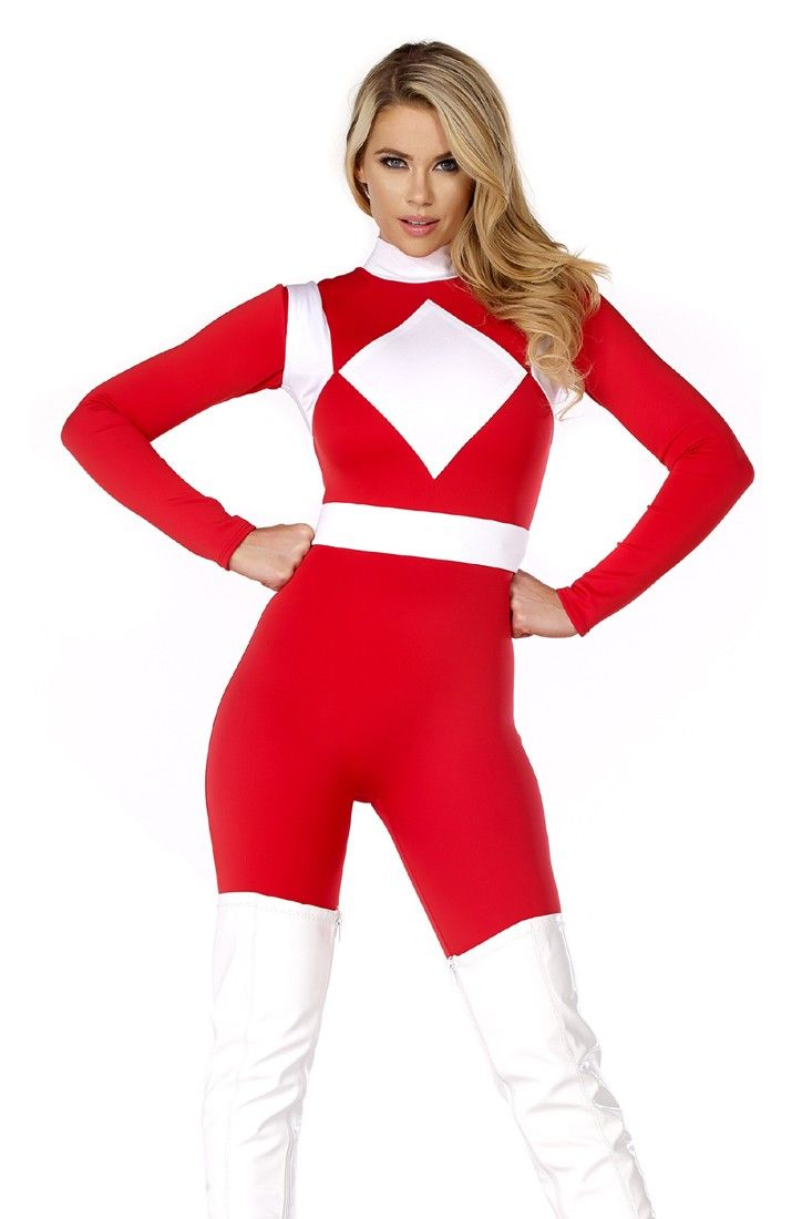 This Sexy Forceful storybook costume features a catsuit and belt.