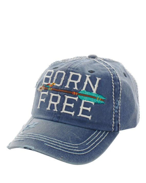 New Kbethos Navy Born Free Hat Distressed Baseball Cap Black Baseball Cap Hats