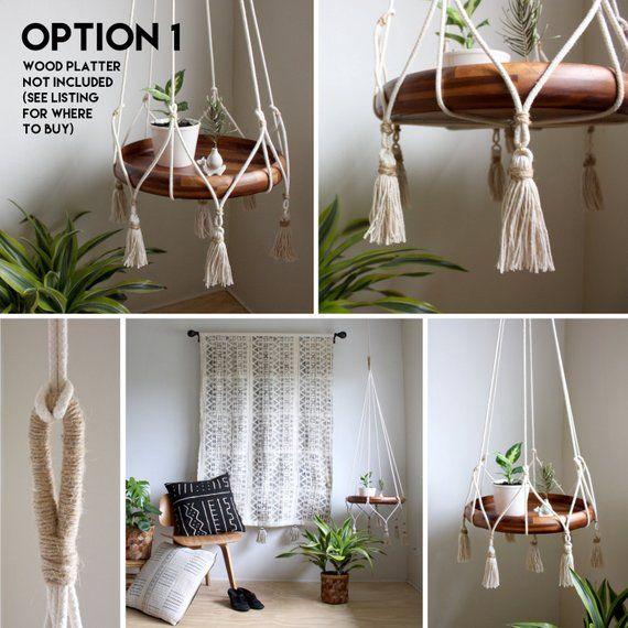 Home Decorating Ideasfor Small House: Colgando Titular De La Mesa Jardinera Colgante De Boho