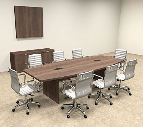 Modern Boat Shaped 10 Feet Conference Table Of Con C59 Bmeasurement 120 W X 32 48 D X 29 Hbr Bweight Lbs N Abr Bmaterial 1 Dizajn