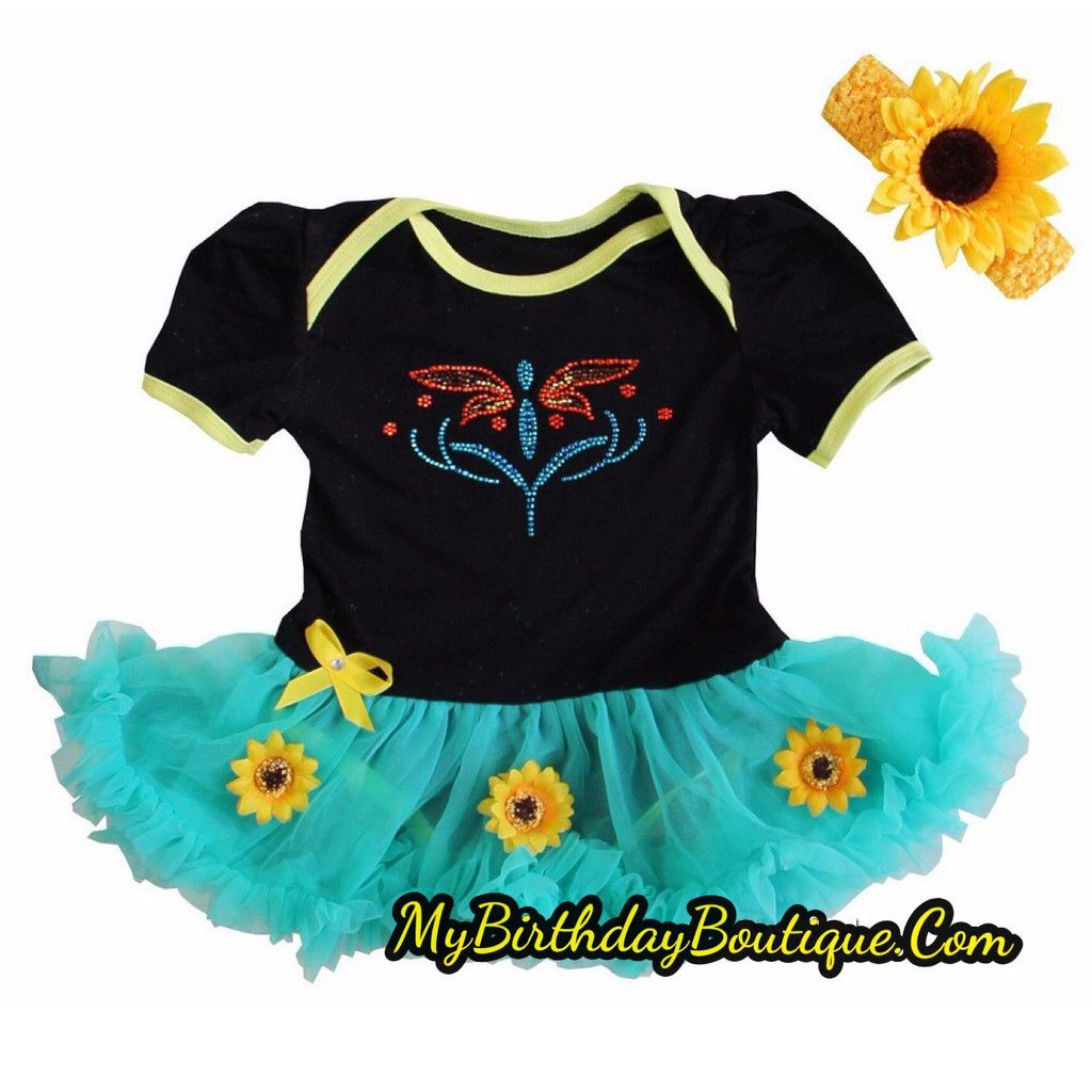 Frozen fever Anna dress, baby Anna dress, Anna sunflower