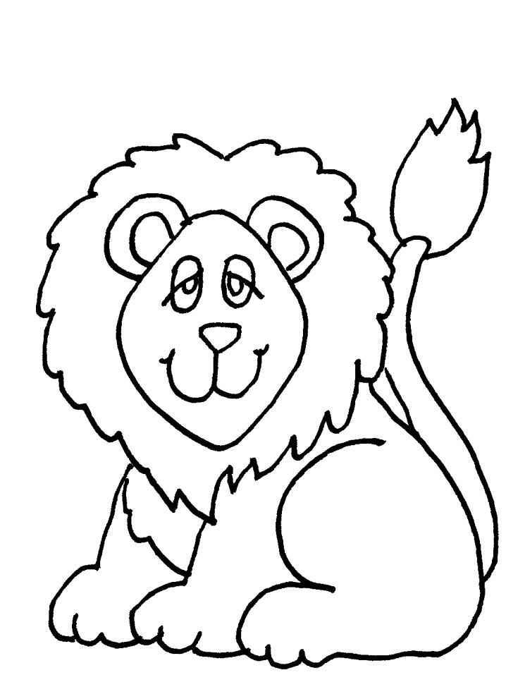 Funny Lion Coloring Pages For Kids Great Coloring Pages