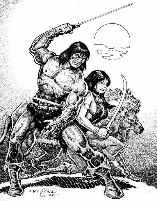 Conan and Belit by Ernie Chan ...