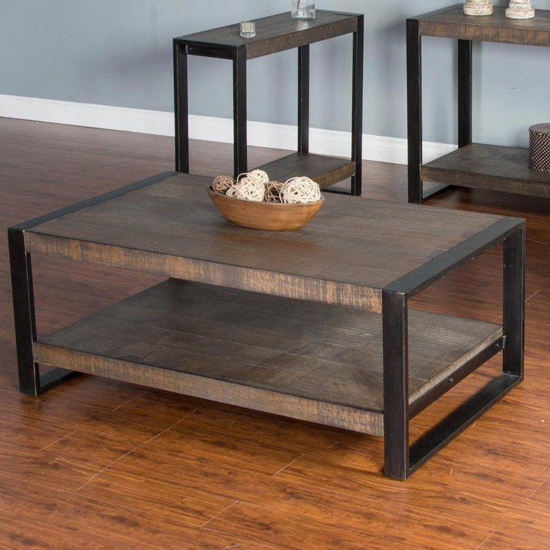 Chaput coffee table pine coffee table adjustable coffee