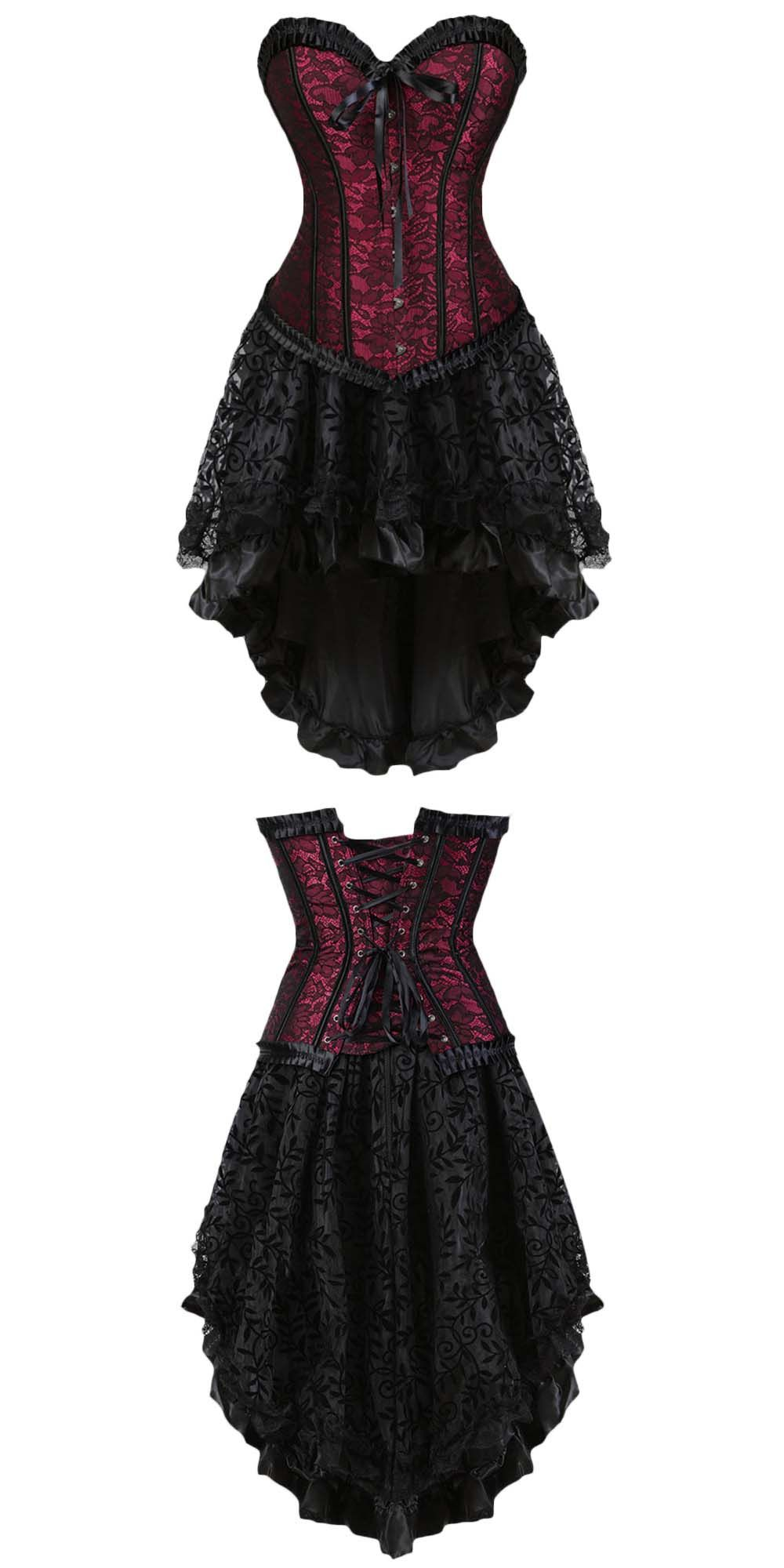 63cb72c7548 Steampunk Vintage Gothic Corset Dress  (S-3XL)