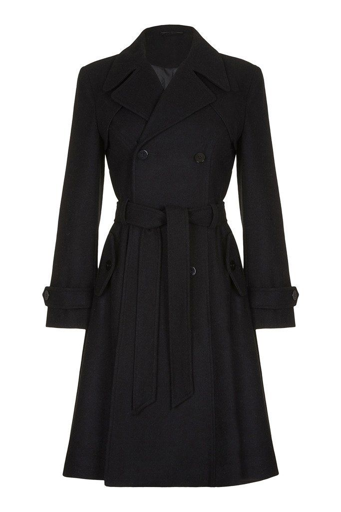 Anastasia Women S Wool Winter Belted Trench Coat Navy Size 20 Amazon Co Uk Clothing Belted Trench Coat Clothes Trench Coat Black