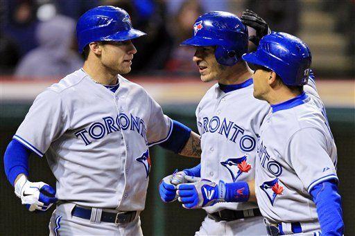 Jpa Saviour And Omar Celebrate Toronto Blue Jays Blue Jays Blue Jays Baseball