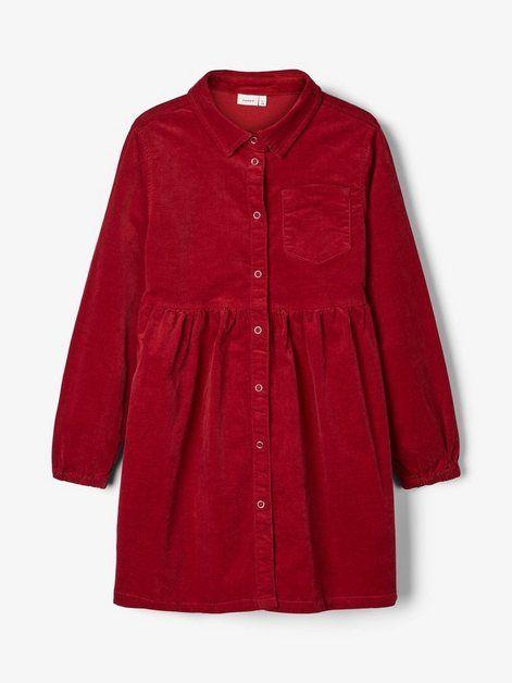 Cord Hemd Kleid | Rotes kleid, Hemdbluse damen und Hemdkleid
