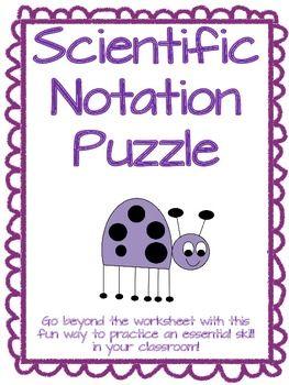 Number Sense Worksheet -- Scientific Notation (Old) | School ideas ...