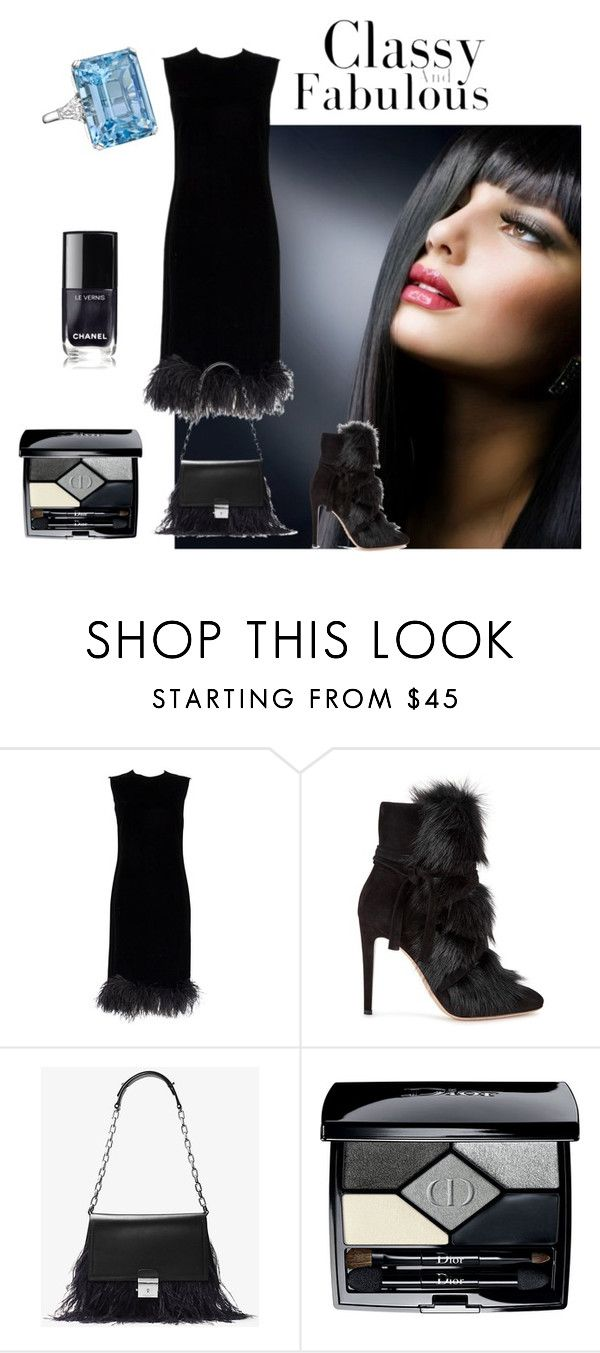 """classy and fabulous"" by sofiacalo ❤ liked on Polyvore featuring Gianvito Rossi, Betteridge, Michael Kors and Christian Dior"