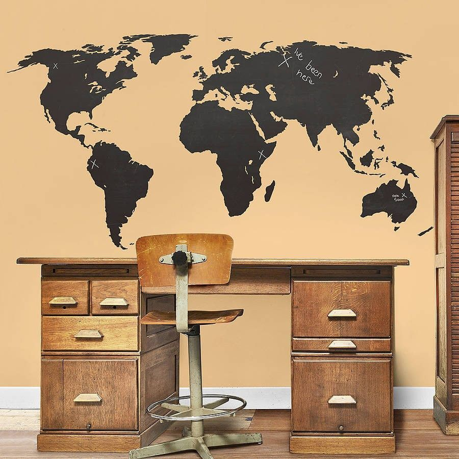 INCREDIBLE GLOBE WALL STICKER FOR REAL TRAVELLERS - FREE SHIPPING ...