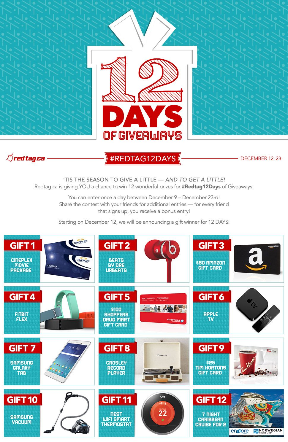 12 days christmas giveaway apple